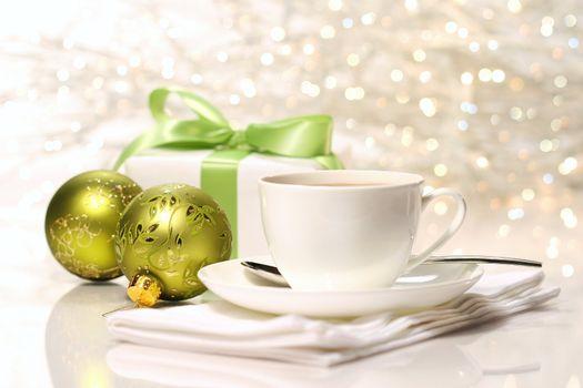 Tea break preparing for Christmas festivities