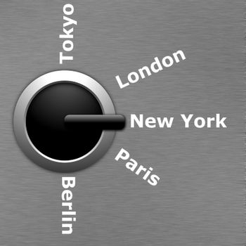 business travel concept with swith to tokio london new york paris and berlin