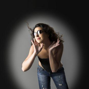 Portrait of a beautiful young woman posing