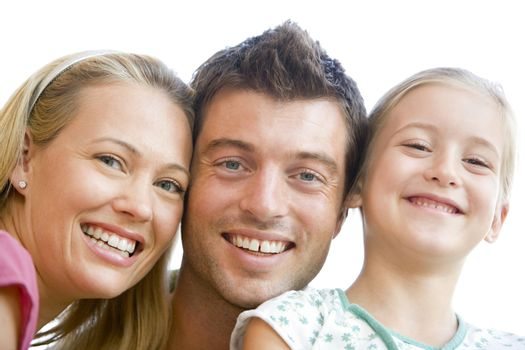 Family together smiling