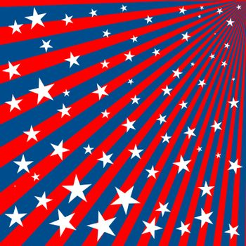 Background with stars and stripes for 4th of july