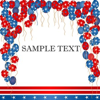 Balloons and banner background for Independence day
