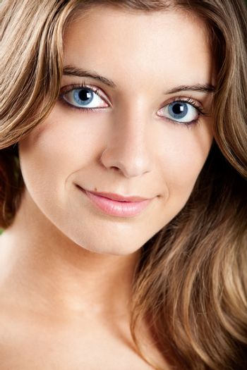Close-up portrait of a Fresh and Beautiful young woman