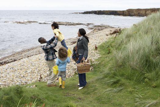 Family having picnic