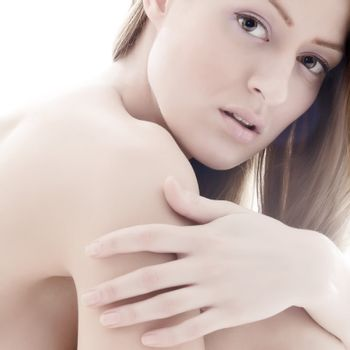 Young beauty woman in a relaxing mood