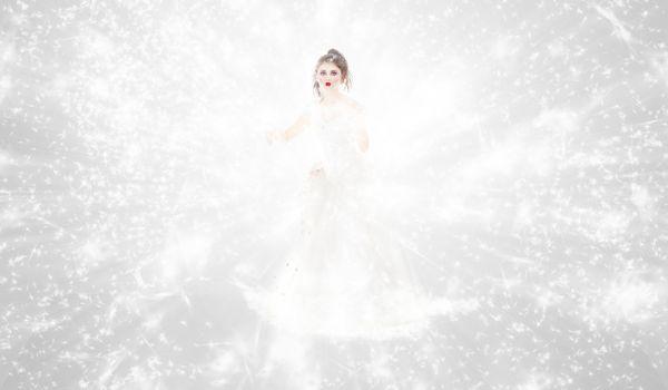 Portrait of abstract winter queen