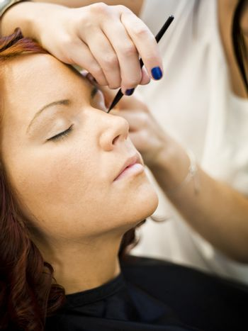 Close-up of a make-up situation