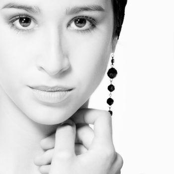 Studio portrait of a beautiful mixed race, vietnamese girl looking stunning