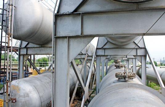 gas tanks in the industrial estate, suspension energy for transportation and household use