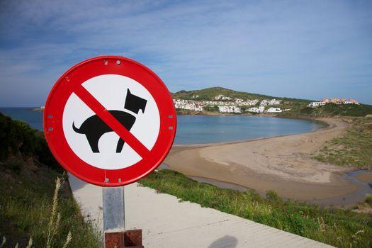 Tirant Beach at Menorca island in Spain