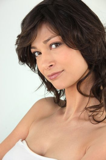 Brown-haired woman  beauty