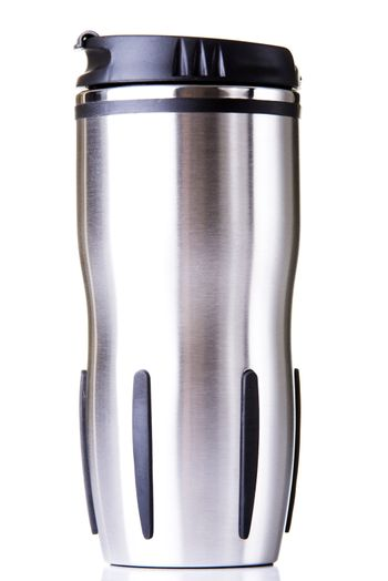 Thermos travel tumbler, cup. Isolated.