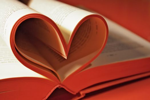 Heart shaped book pages.