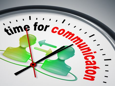 An image of a nice clock with time for communication