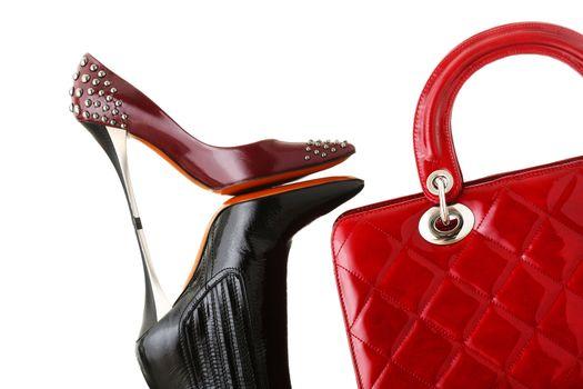 shoes and handbag, fashion photo