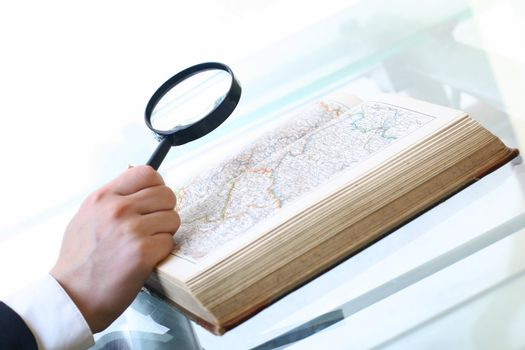 look on map where to travel