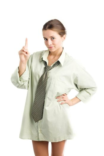 An image of a nice young girl in shirt