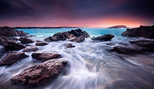 Amazing Sunrise Over Australian Beach