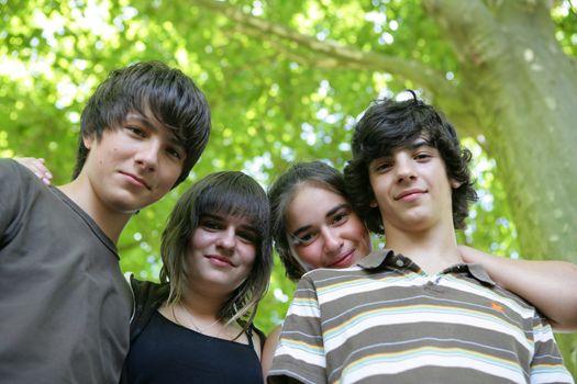 Teenagers outdoors