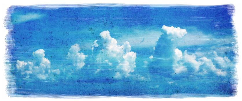 Grunge sky background with old texture
