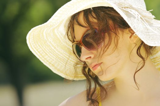 Beauty shot of a woman with sunglasses