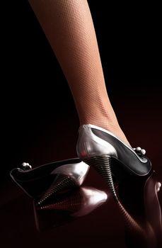 Woman sexy leg, shoes