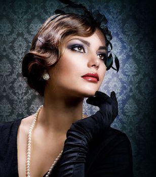 Romantic Beauty. Vintage Styled