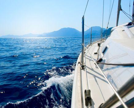 Yacht. Travel