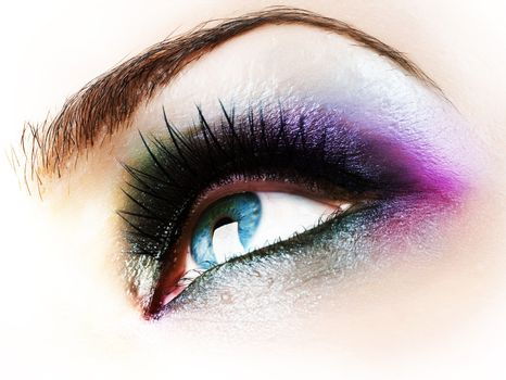 Beautiful Abstract Woman Eye Closeup