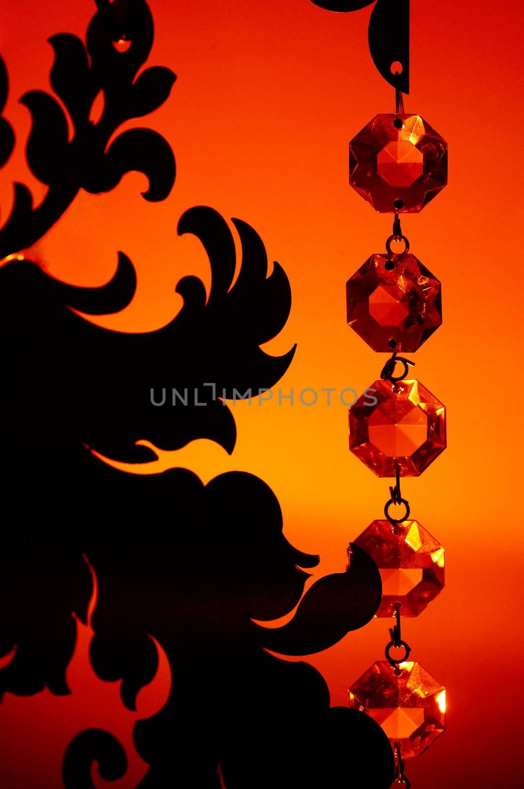 romantic background with crystal for Valentine day or wedding