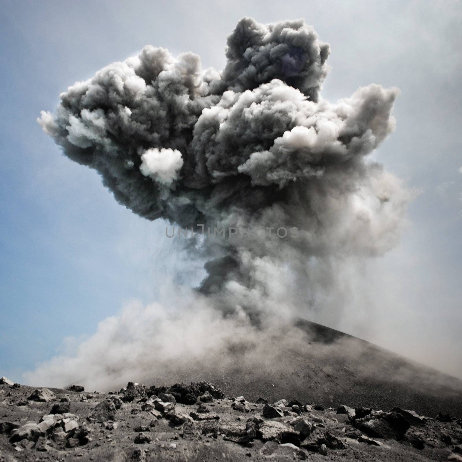 Volcanic eruption in all its dangerous beauty