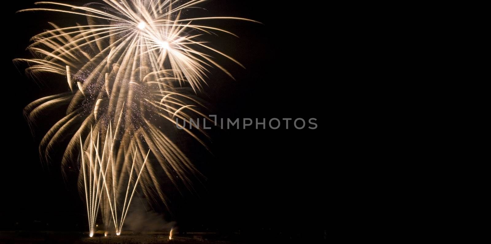 Various details of traditional pyrotechnical firework displays