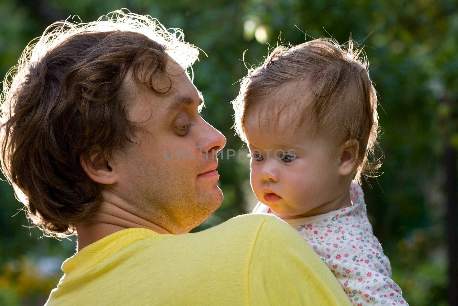 people series: happy father with fanny baby