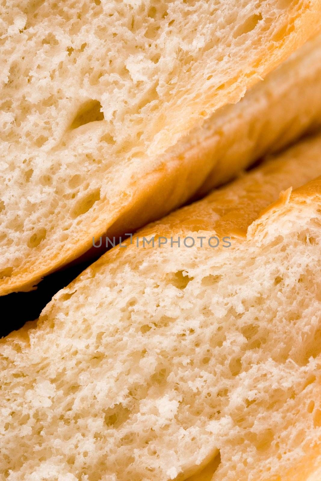 macro of wholemeal bread texture
