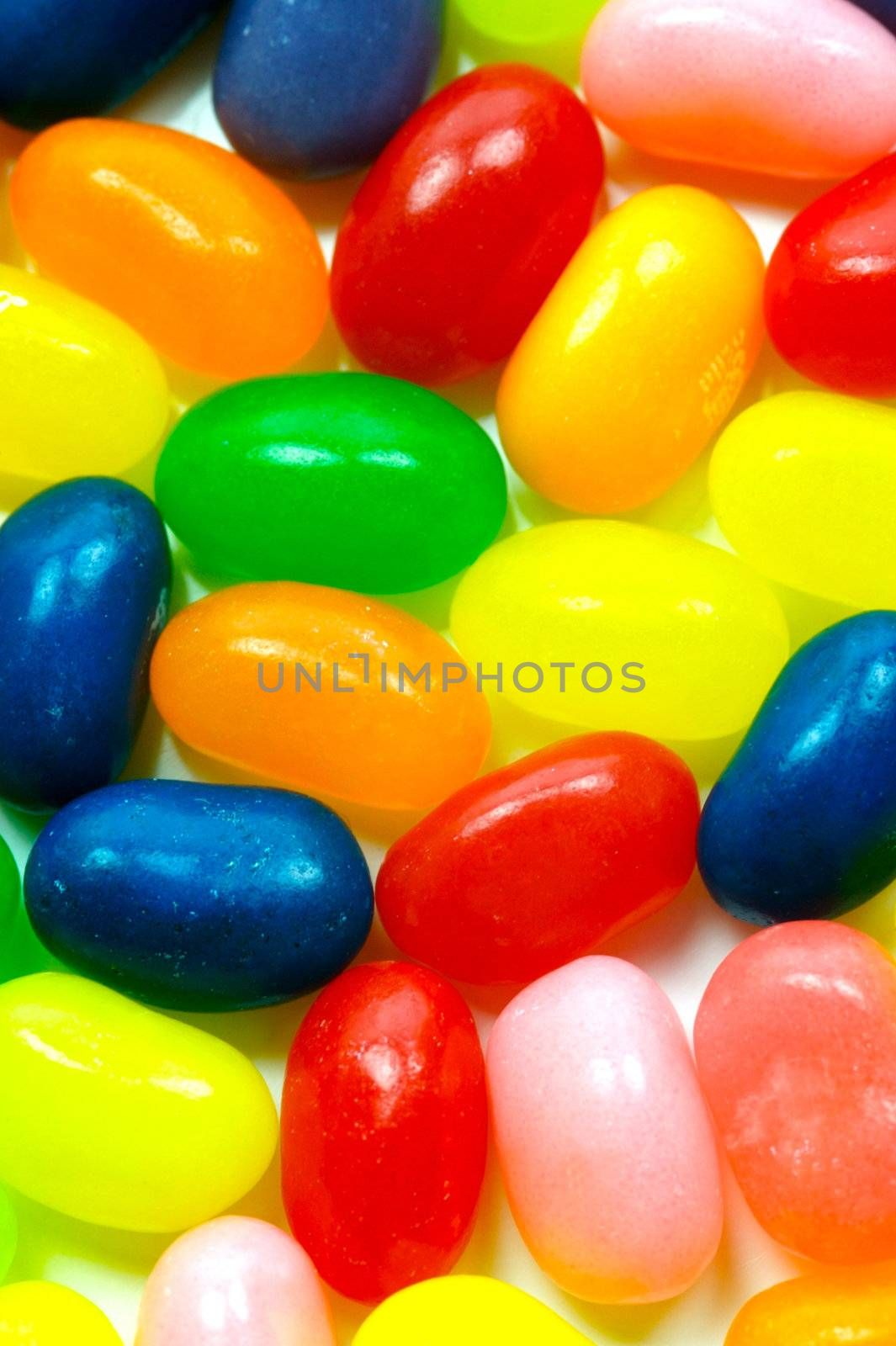 Jelly babies isolated on a white background