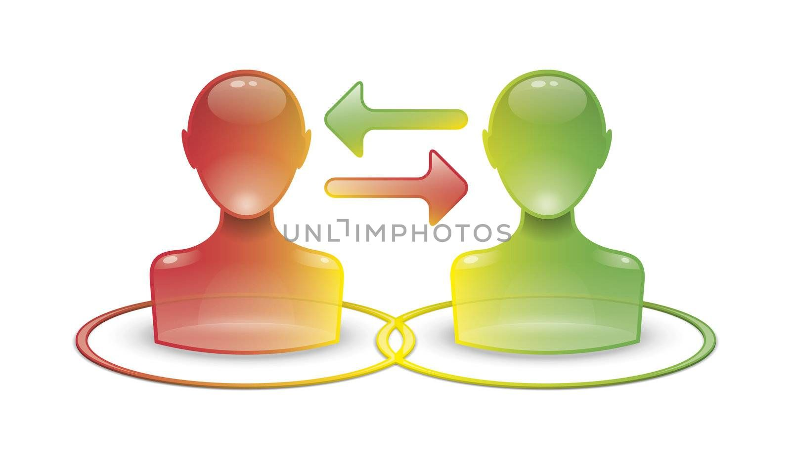 An image of a web communication icon