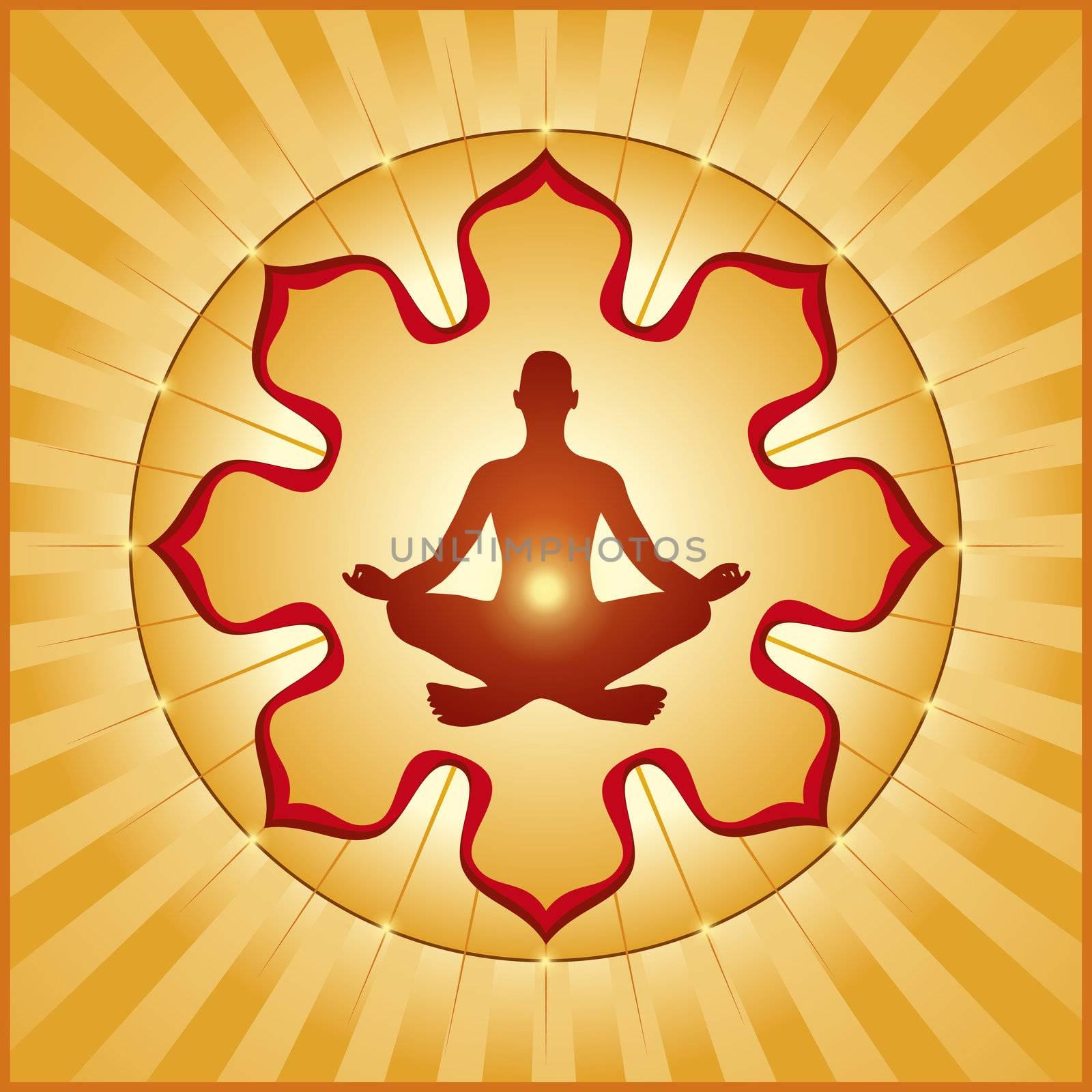 An image of a nice orange yoga graphic