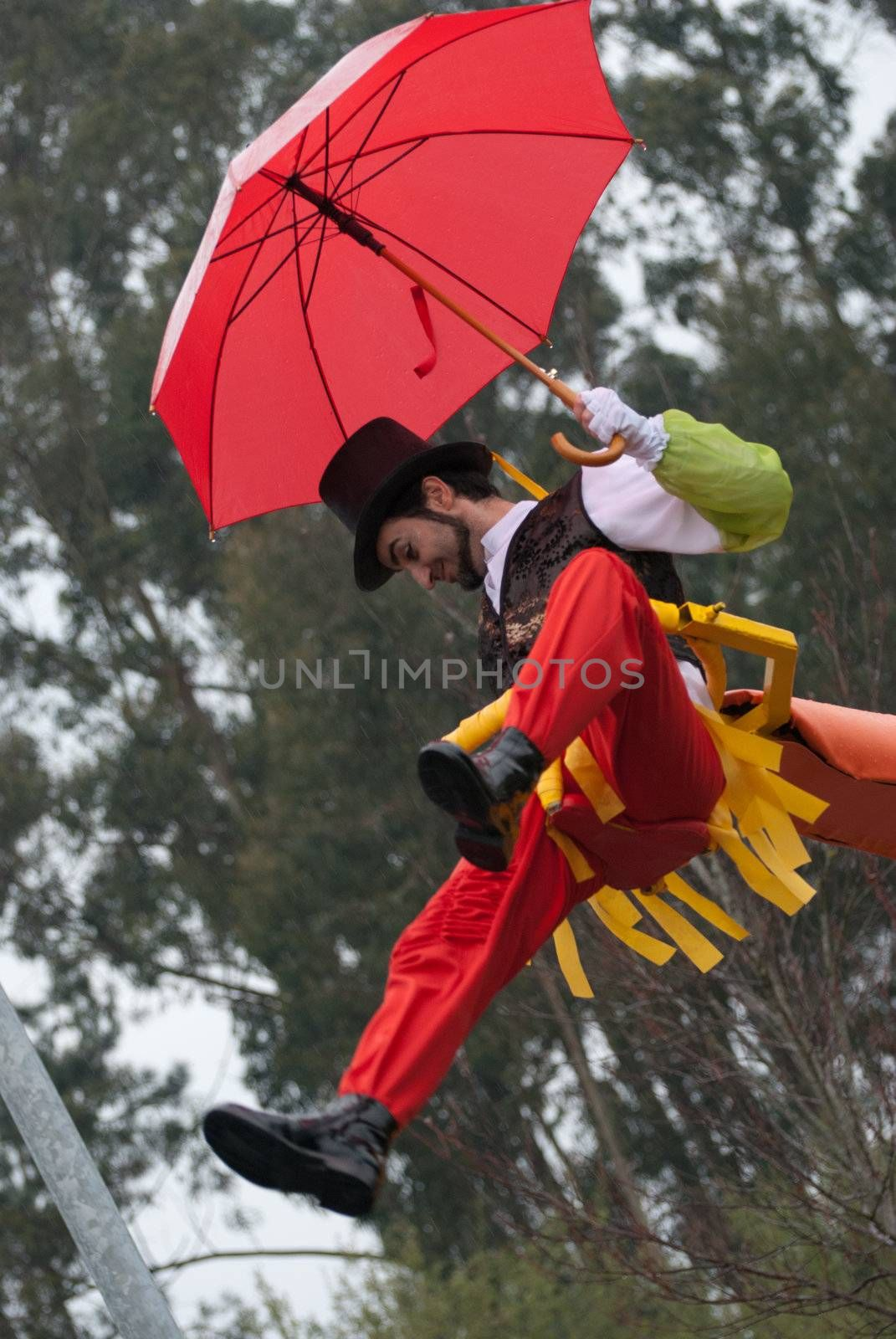 OVAR, PORTUGAL - MARCH 8: Group 'Marados'  during the Carnival Parade on March 8, 2011 in Ovar, Portugal.