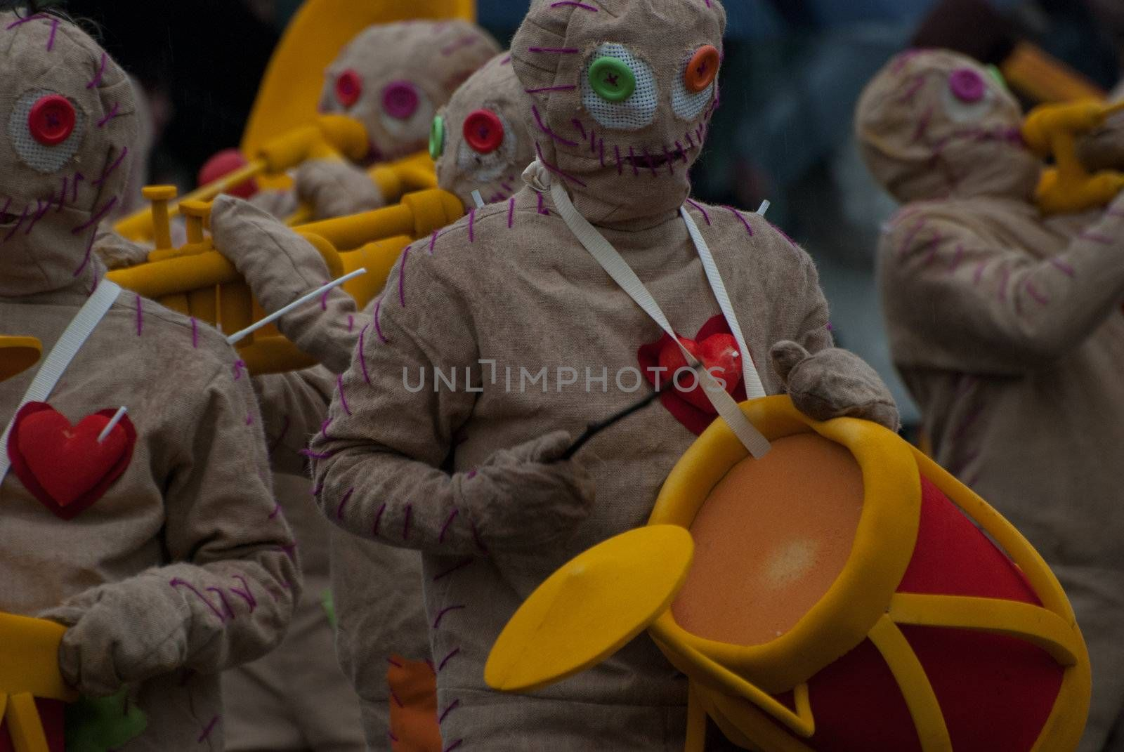 OVAR, PORTUGAL - MARCH 8: Group 'Hippies'  during the Carnival Parade on March 8, 2011 in Ovar, Portugal.