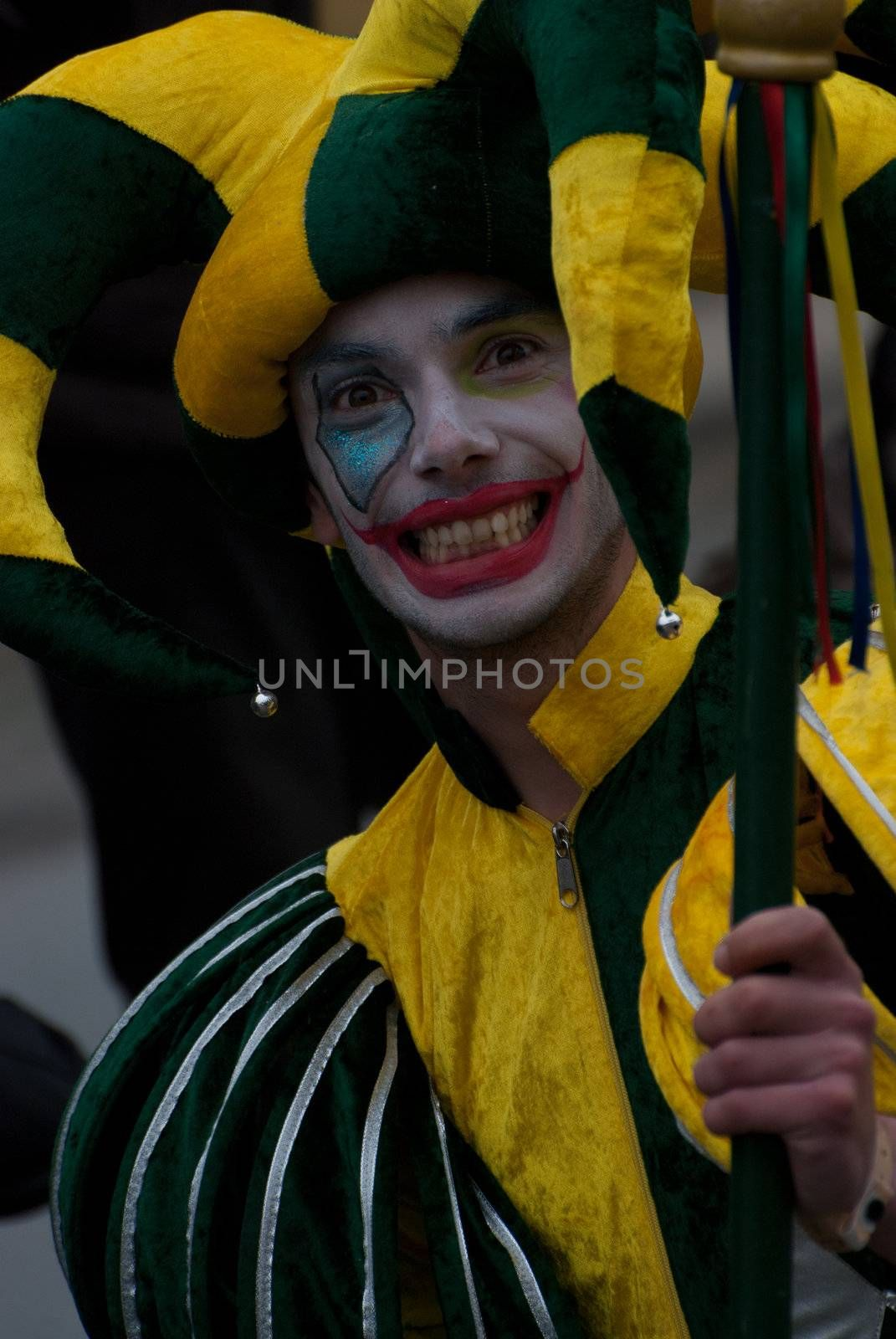 OVAR, PORTUGAL - MARCH 8: Group 'Catitas'  during the Carnival Parade on March 8, 2011 in Ovar, Portugal.