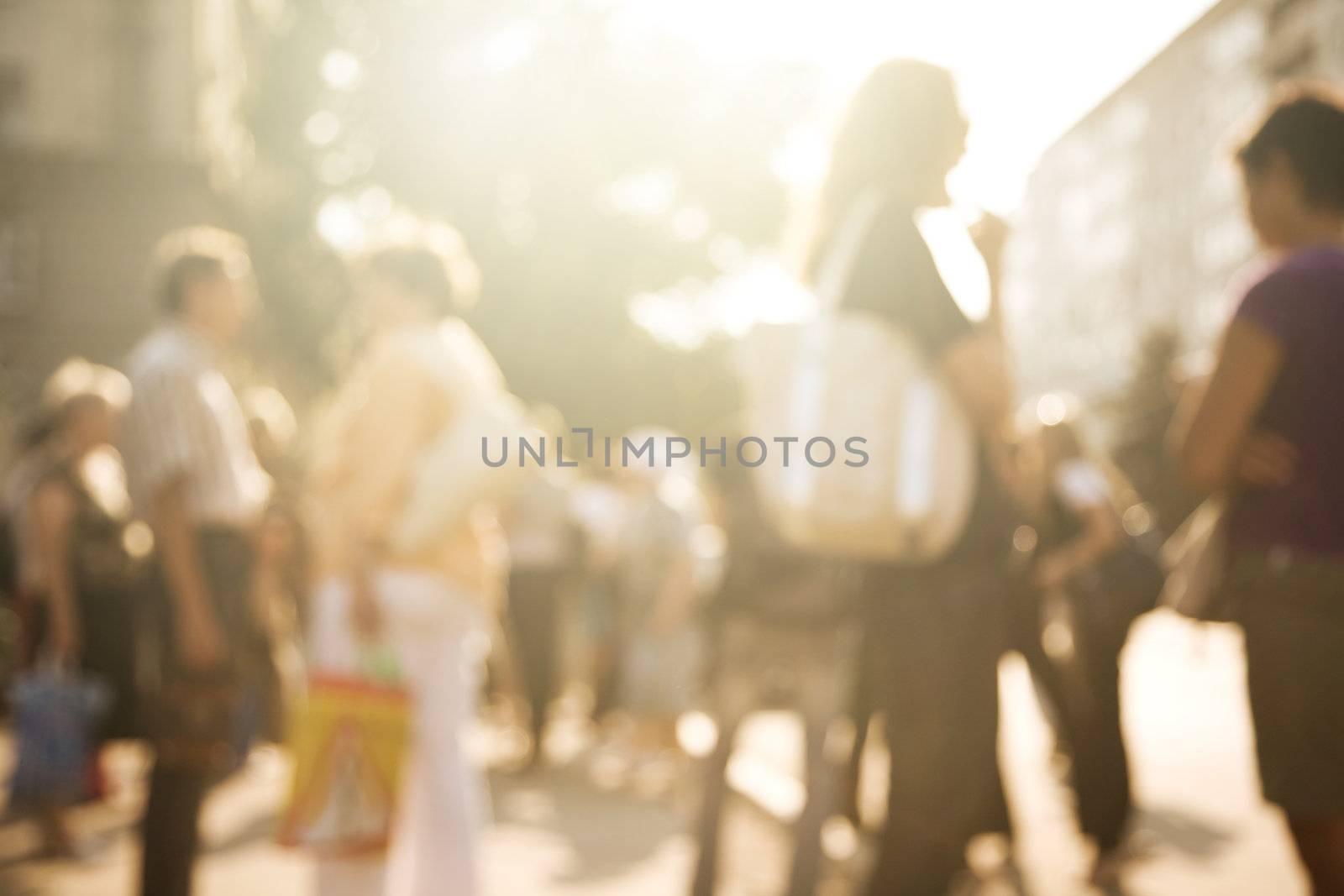 special lens blur f/x, toned urban citizen concept