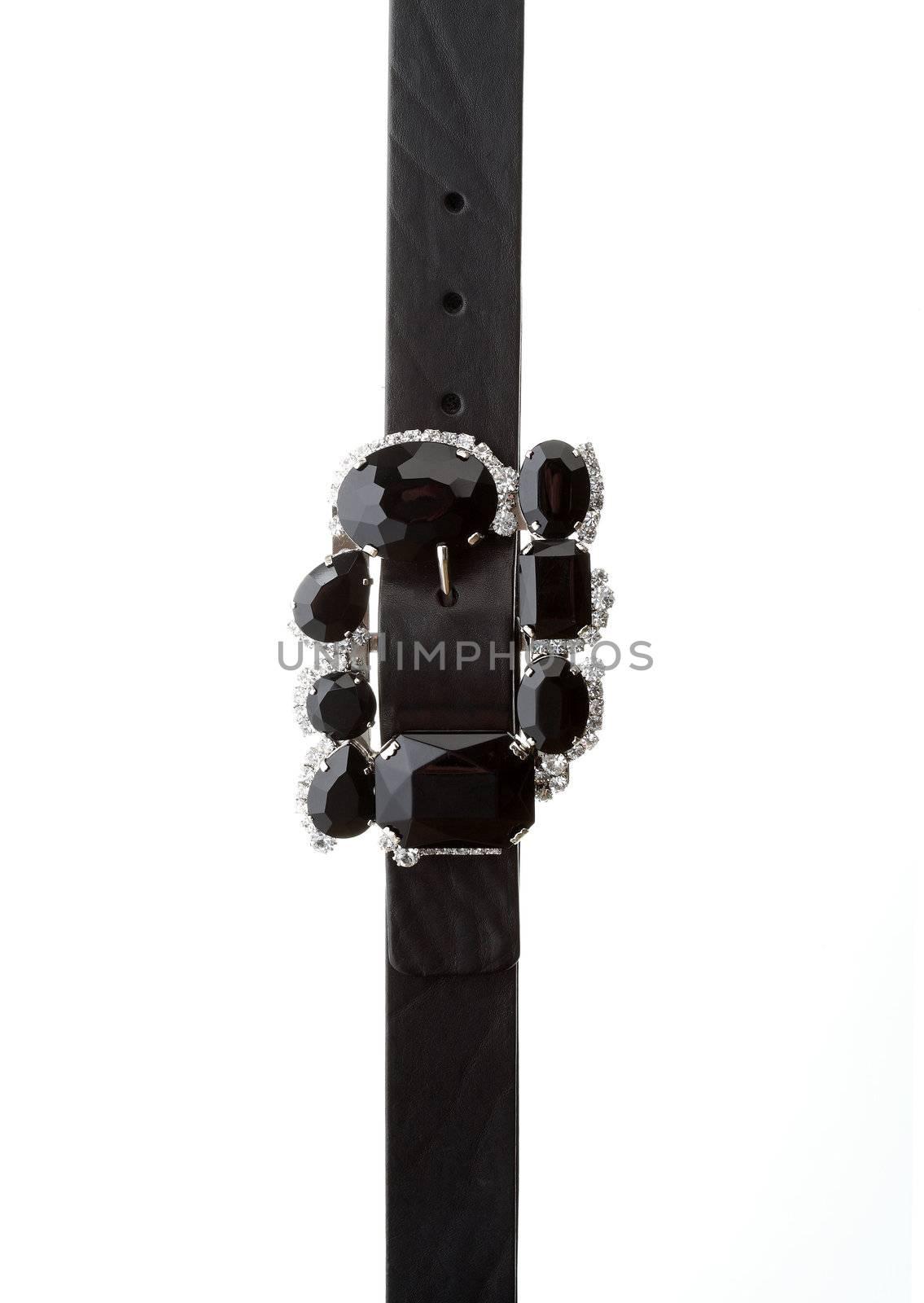 Close-up of studded modern fashionable belt