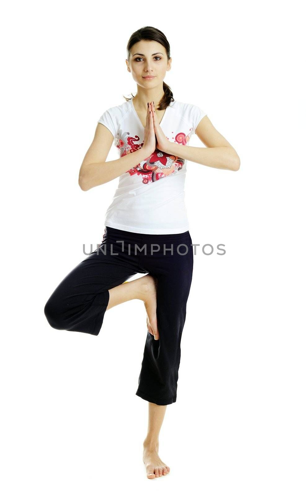 An image of nice woman practicing Yoga exercises