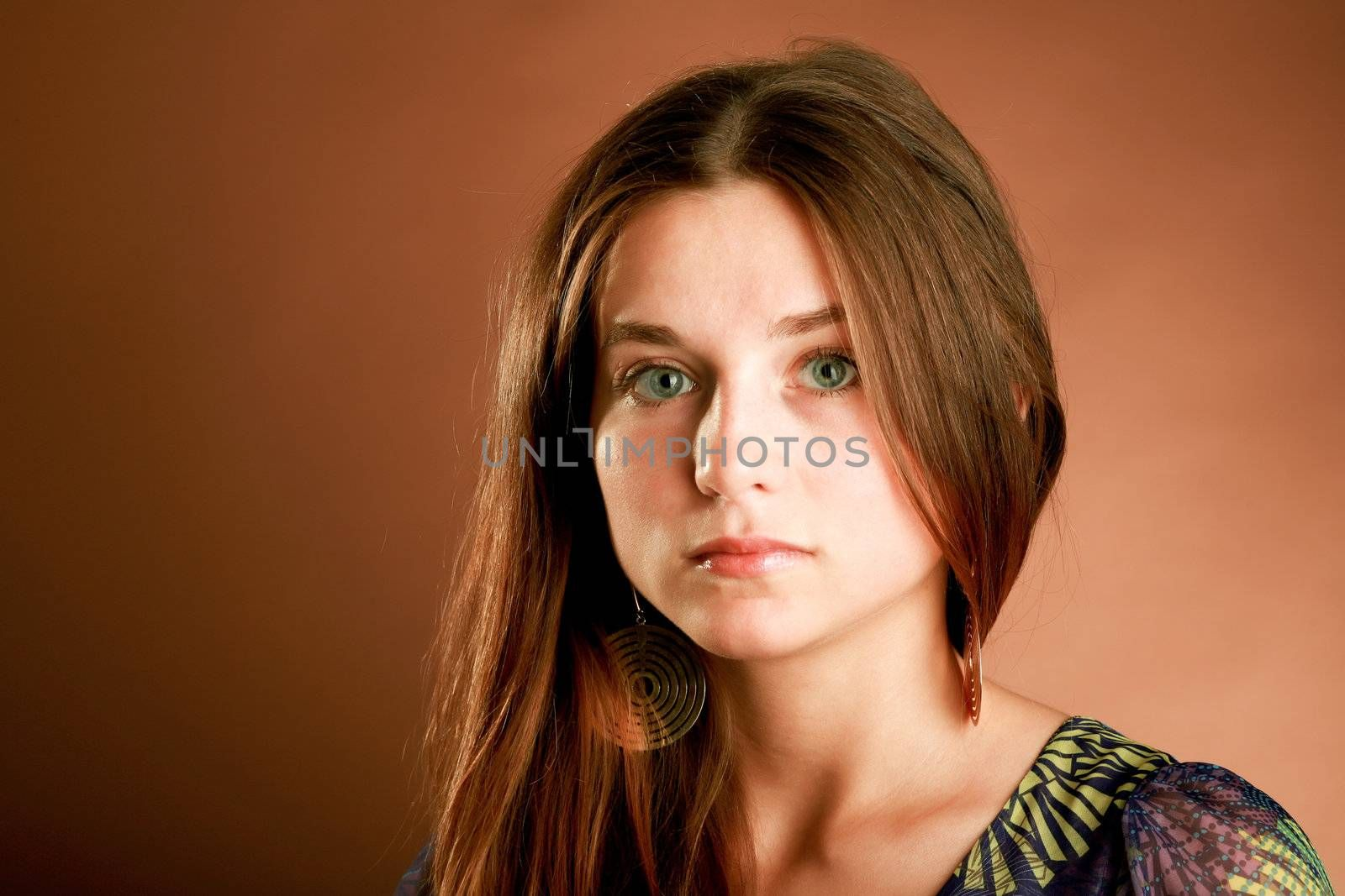 An image of a portrait of a romantic girl