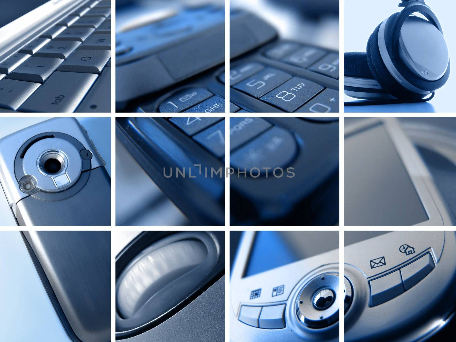 Montage of Abstract Technology Images