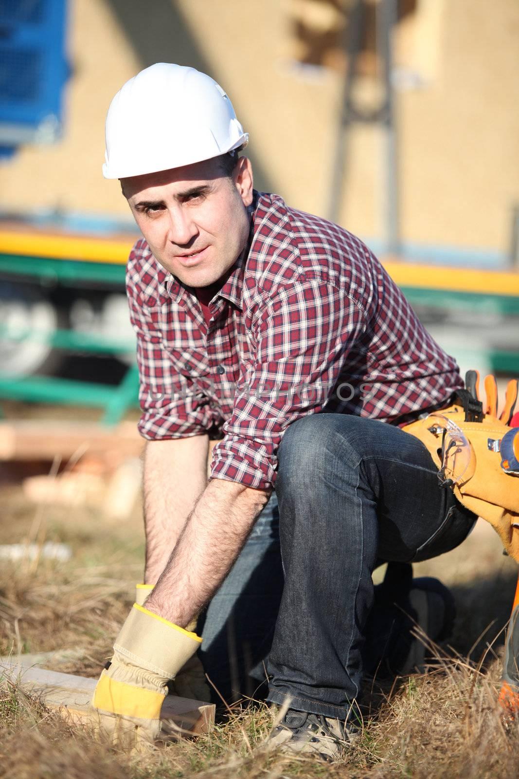 Builder outdoors