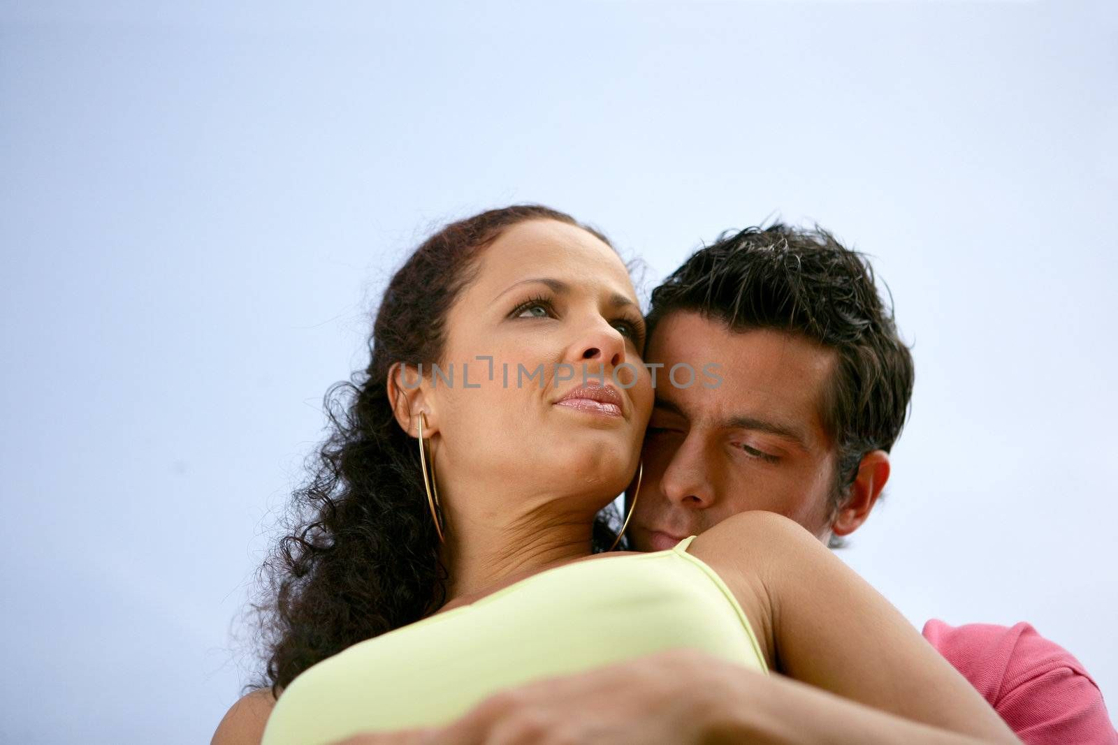 Couple on romantic beach