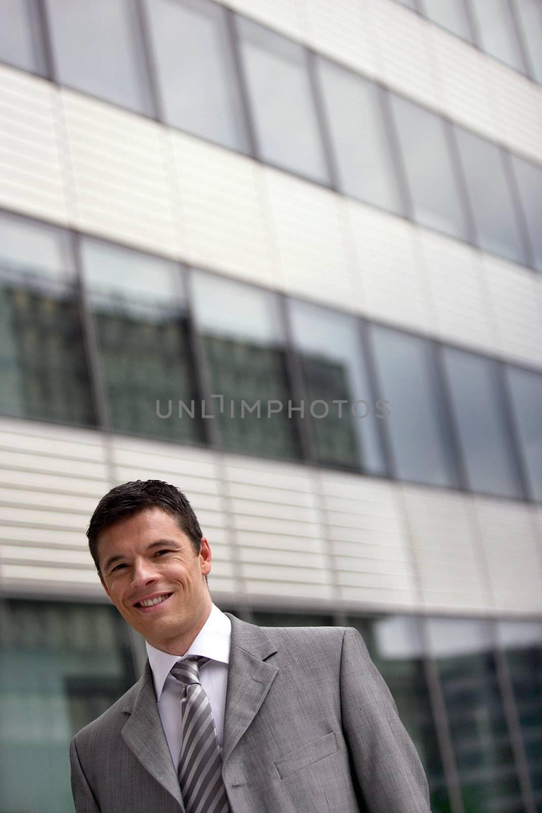 Businessman outdoors