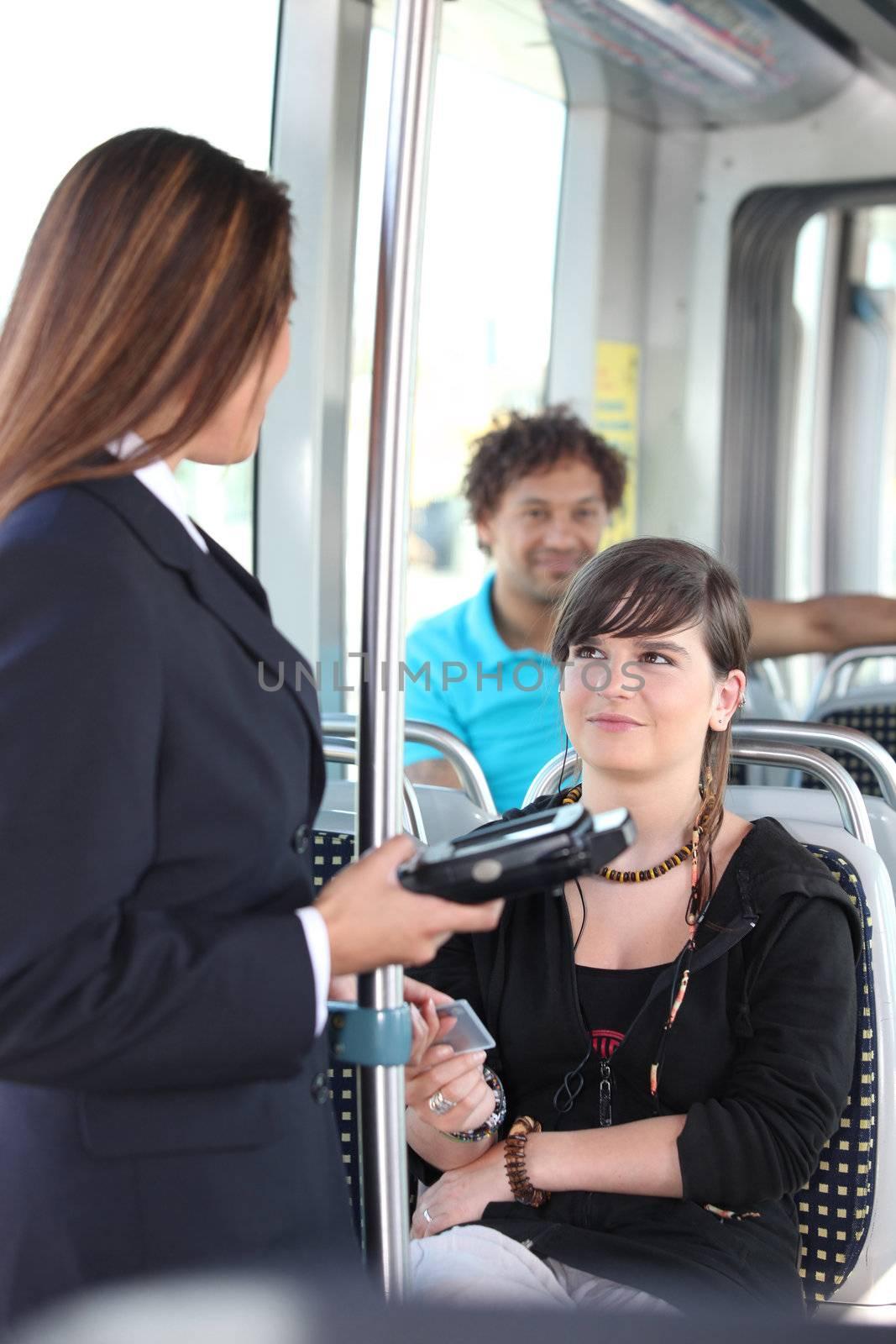 control of transportation ticket