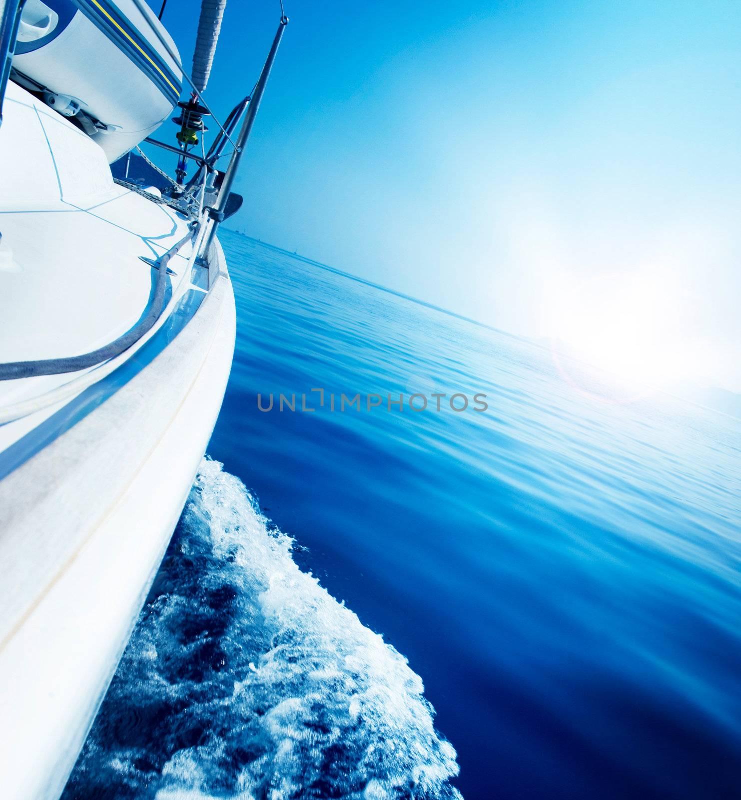 Travel .Luxury Yacht. Sailing